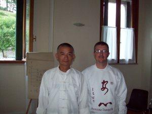 Prof. Wang Zhi Xiang e M° Malnati Pietro (Spiazzi, agosto 2008)