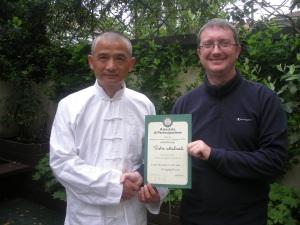 Prof. Wang Zhi Xiang e M° Malnati Pietro (Milano, aprile 2011)
